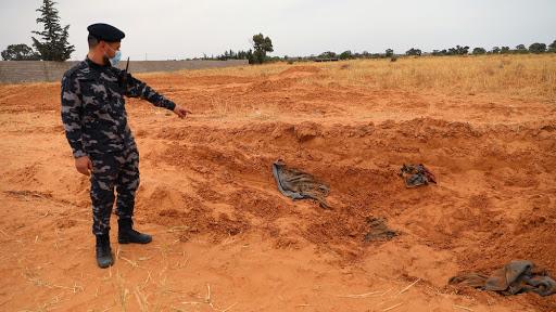 Mass graves in Tarhouna, Libya