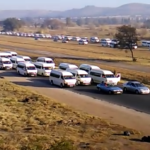 Video: Taxi protest disrupts traffic