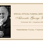 Special funeral service for George Bizos