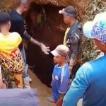 Pink coffins mark growing death toll of Congo gold mine collapse
