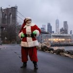 Wider Image: Christmas wishes from Santas around the world