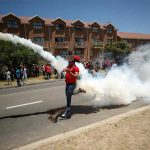 South African police fire tear gas during Cape anti-racism march