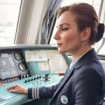 Clear the tracks: Russia's first female train driver takes the wheel after decades-long ban lifted