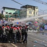 Myanmar police fire to disperse protest, four hurt, one critical