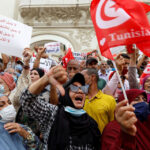 """Tunisians protest against president's """"coup"""""""