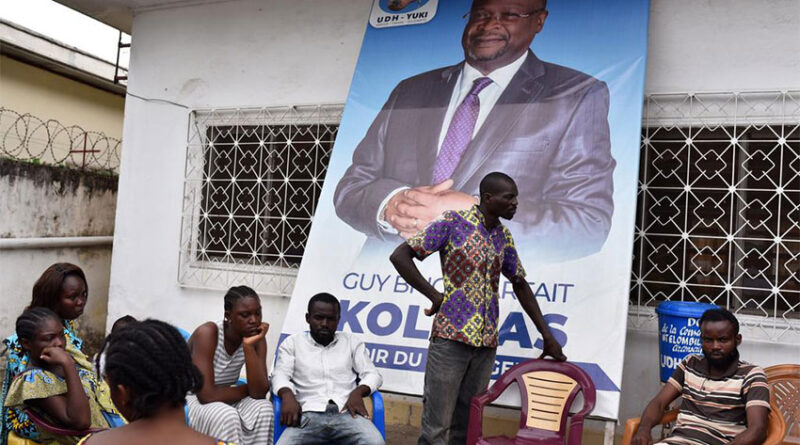 Supporters of Congo Republic's opposition presidential candidate Guy Brice Parfait Kolelas