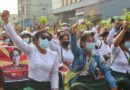 Protests against the coup in Myanmar