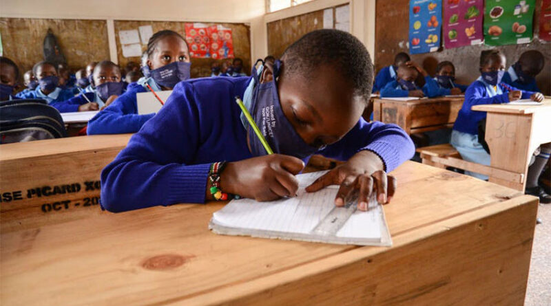Pupils of Olympic Primary School in Nairobi, Kenya
