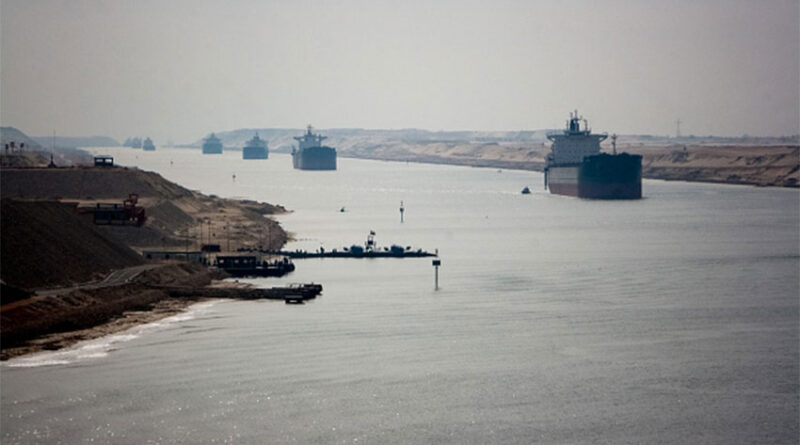 The Suez Canal on a normal day