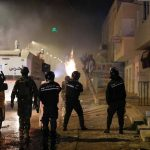 Tunisian youth clash with police