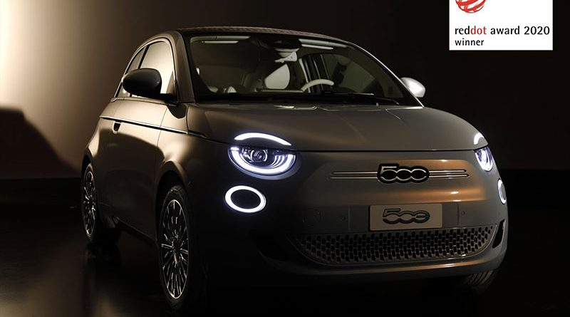 """Fiat New 500 wins the """"Red Dot Award 2020"""""""