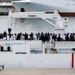 45 migrants rescued after ship capsizes
